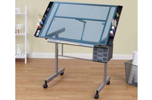Studio Designs 10053 Blue Glass Vision Craft Station in Silver