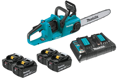 Makita XCU03PT1 Brushless Cordless Chain Saw Kit with Batteries