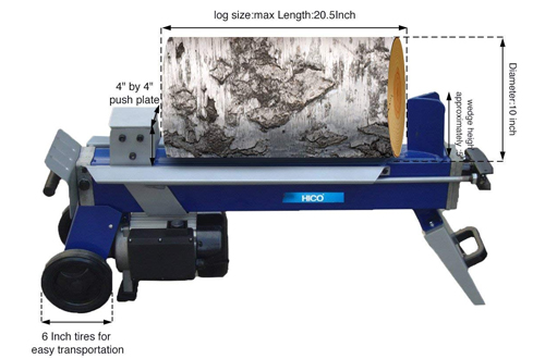 HICO-LSP0552 5-Ton Electric Log Splitter & firewood Splitter