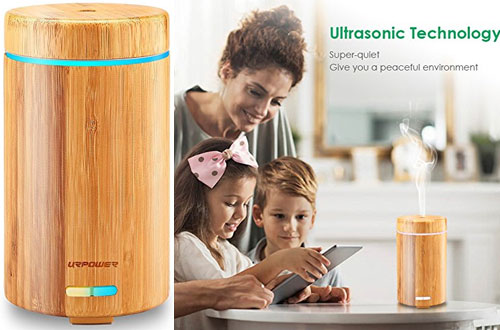 URPOWER Real Bamboo Essential Oil Diffuser Ultrasonic Aromotherapy Diffusers