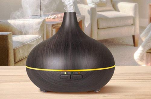 VicTsing 150ml Mini Wood Grain Aroma Essential Oil Diffuser