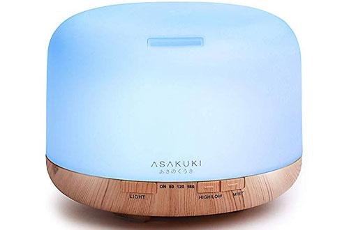 ASAKUKI PremiumUltrasonic Aromatherapy Essential Oil Diffuser