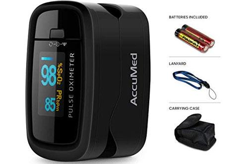 AccuMed CMS-50D1 Finger Pulse Oximeter Blood Oxygen Sensor