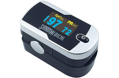 Santamedical Generation OLED Finger Pulse Oximeter with Batteries