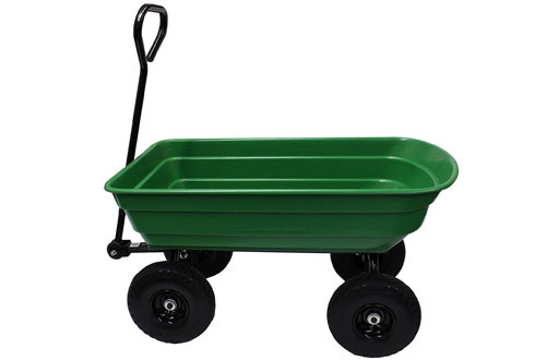 Garden Star Garden Wagon & Yard Cart with Flat Free Tires
