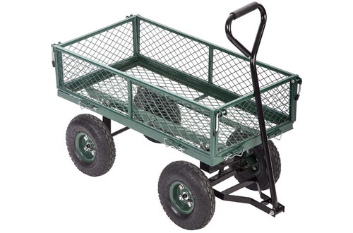 Garden Yard Dump Wagon Cart & Lawn Utility Cart for Outdoors