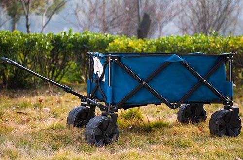 Timber Ridge Folding Camping Garden Wagon - Beach Cart