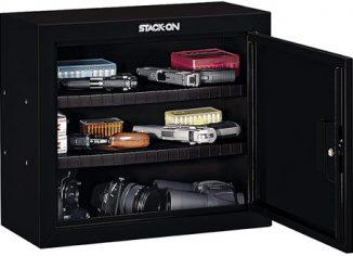 Stack-On GCB-900 Steel Pistol/Ammo Gun Cabinet - Black