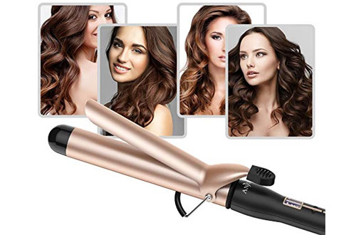Anjou Hair Curling Wand with Anti-scalding Insulated Tip