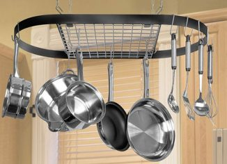 Kinetic Classicor Series Ceiling Wrought-Iron Oval Pot Rack