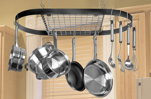 Top 10 Best Kitchen Wall-Mounted Hanging Pot Racks Reviews In 2019