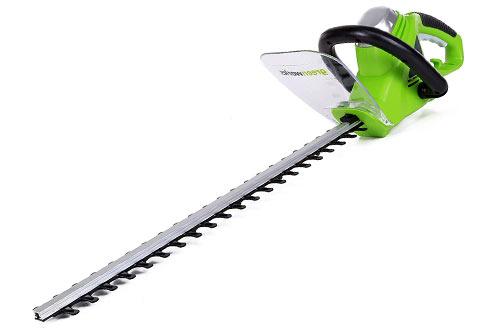 Greenworks 4-Amp Lightweight Cordless Hedge Trimmer