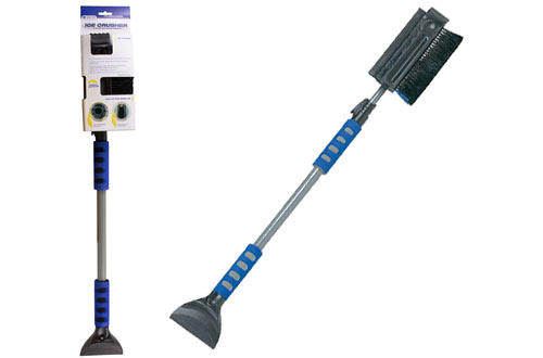HopkinsIce Crusher Pivoting Snowbroom and Squeegee