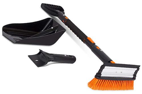 Extendable Snow Brush & Ice Scraper & Emergency Snow Shovel