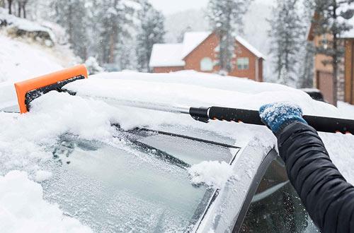 Auto Window Windshield Snow Brush | Car Ice Scraper