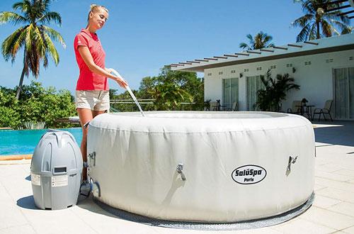 Inflatable Hot Tub with LED Light – SaluSpa Paris