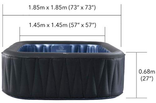 Relaxation 6-Person Portable Inflatable Hot Tub -M-SPA MSPA Tekapo