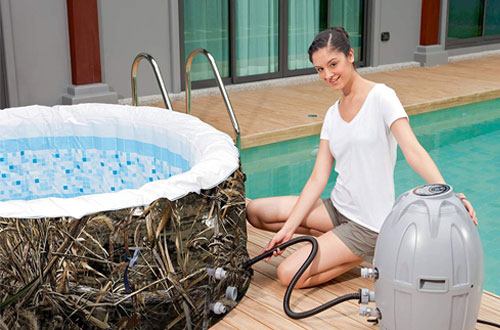Portable Max-5 Airjet Inflatable Hot Tub Spa – Realtree SaluSpa