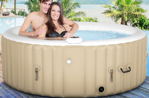 Goplus Outdoor 4-6 Person Spa Inflatable Hot Tub for Massage Relaxing