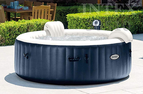 Portable Intex Pure Spa 6-Person Inflatable Heated Bubble Hot Tub