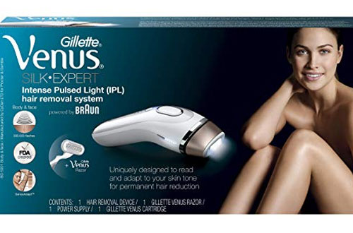 Braun Gillette Venus Silk-Expert Face & Body Hair Removal System with Razor