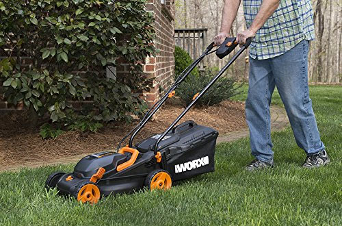 Worx WG779 40V 14-Inch Cordless Lawn Mower with Dual Charger