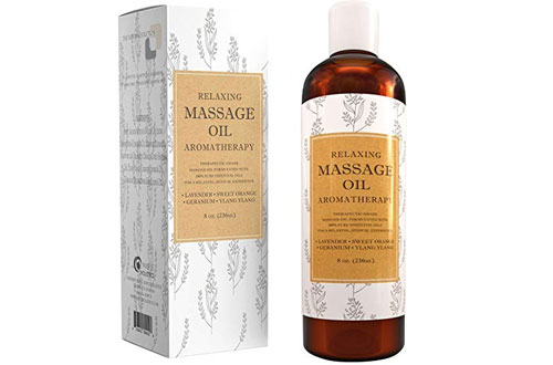 Relaxing Sensual Massage Oil - Aromatherapy Essential Oils