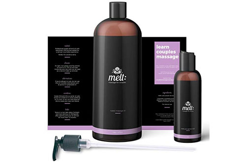 Melt Sweet Almond Sensual Oil Massage Moisturizing Skin Therapy