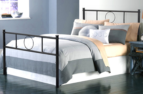 Adjustable Black Twin Bed Frame Platform – GreenForest