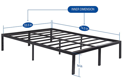 Olee Sleep Non-slip Support Full-Size Bed Frame