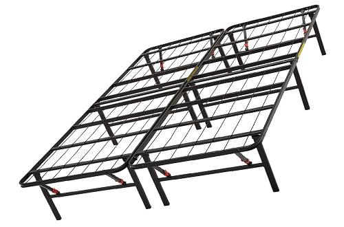 AmazonBasics Foldable Full-Size Twin Bed Frame Under-Bed Storage