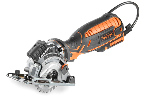 VonHaus Compact Circular Saw with Laser Guide - 5.8 Amp