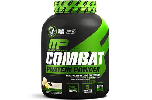 MusclePharm Casein and Egg Protein Powder for Recovery & Vanilla