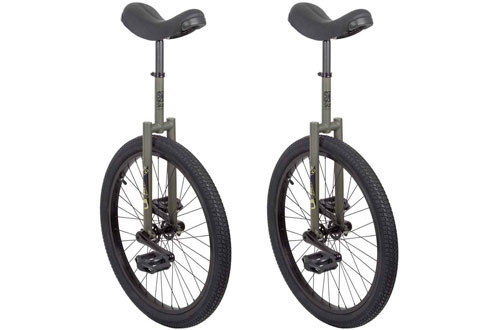 "SUN BICYCLES  Flat Top 24"" Green & Black Unicycle"