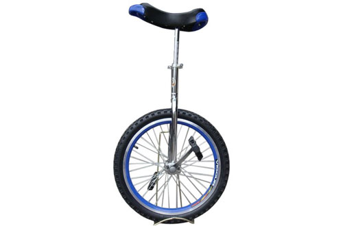 Fantasycart 20-Inch In & Out Door Chrome Coloured Unicycle