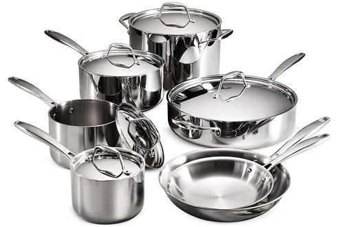 Tramontina Gourmet Stainless Steel Clad 12-Piece Cookware Set