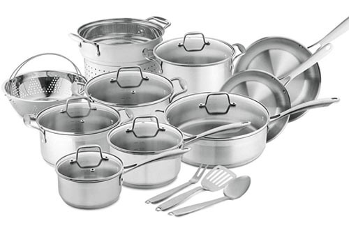 Chef's Star 17-Piece Pots & Pans - Non-Stick Induction Cookware Set