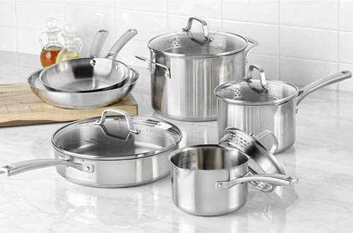 Calphalon Classic 10-Piece Stainless Steel Cookware Set