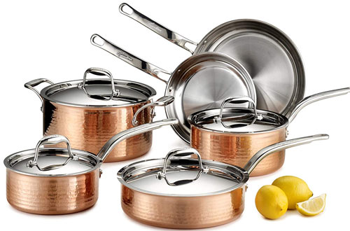Lagostina 10-Piece Stainless Steel Copper Cookware Set