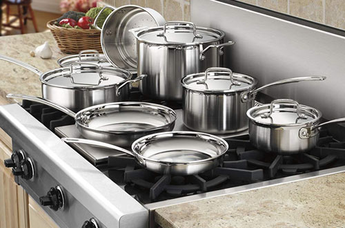 Cuisinart MCP-12N Multiclad Pro 12-Piece Stainless Steel Cookware Set
