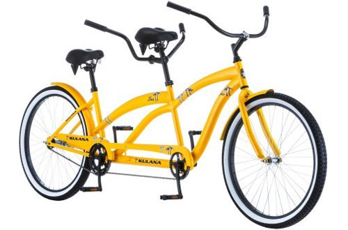 "New Spring Saddles Tandem Bicycle – 26"" Kulana Lua Cruiser"