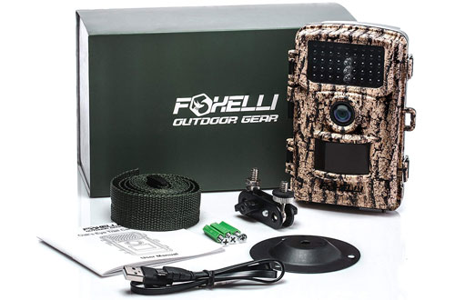 Foxelli 14MP 1080P Full HD Wildlife Hunting Trail Camera with Motion