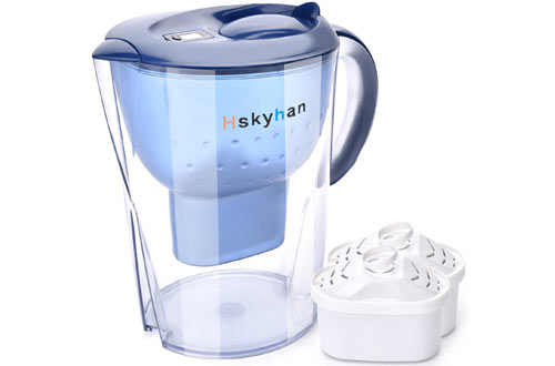 Hskyhan 3.5 Liters Alkaline Water Pitcher with Filtration System To Purify