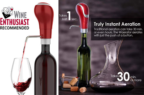 WAERATOR Electric Aeration and Wine Decanter Pourers