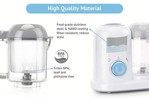 Minne QOOC 4-in-1 Mini Food Maker for Baby