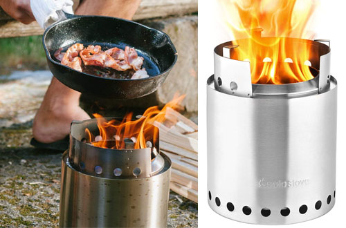Solo Stove Campfire - Compact Wood Burning Backpacking Stove for Camp