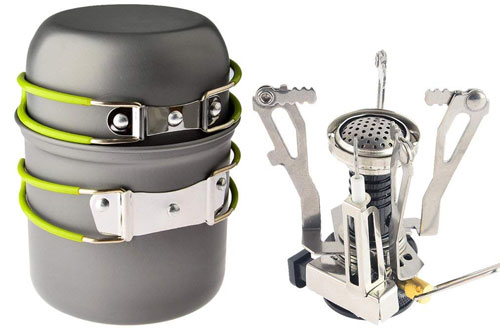 Petforu Ultralight Portable Backpacking Stove for Camping