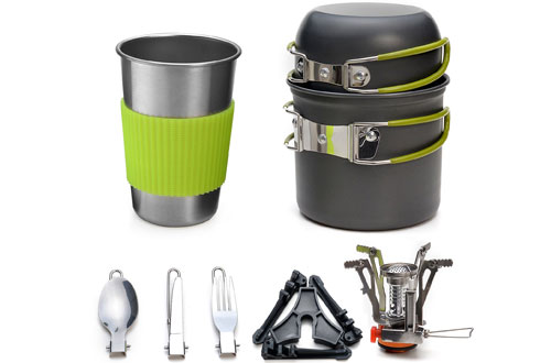 OdolandOutdoor Cookware Stovefor Backpacking, Camping, Hiking and Picnic