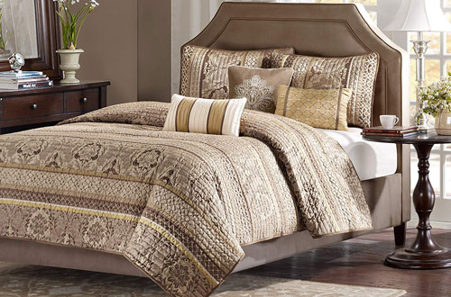 Madison Park King Size Bedding Set - 6-Piece Bedding Quilt Coverlets