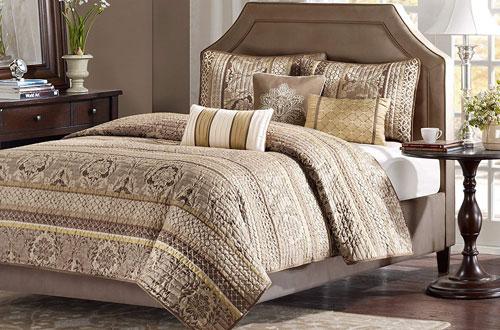 Madison Park King Size Bedding Set - 6-Piece Bedding Quilt Coverlets